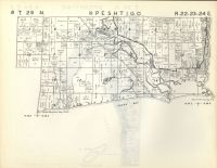 Map Image 007, Marinette County 1954